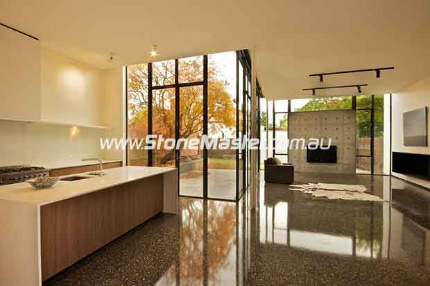 concrete polished contemporary kitchen