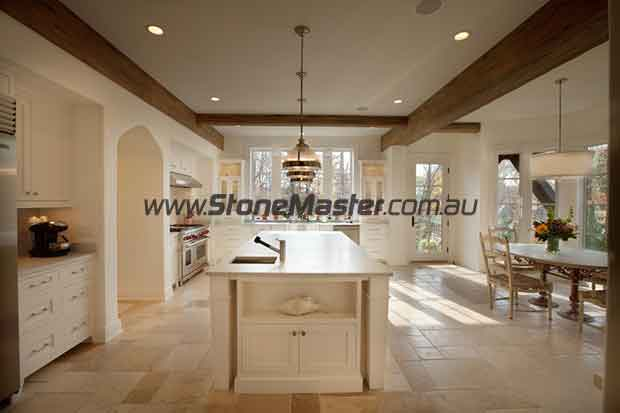 limestone traditional kitchen