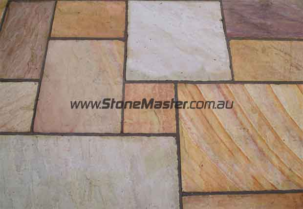 sandstone flamed mint sample
