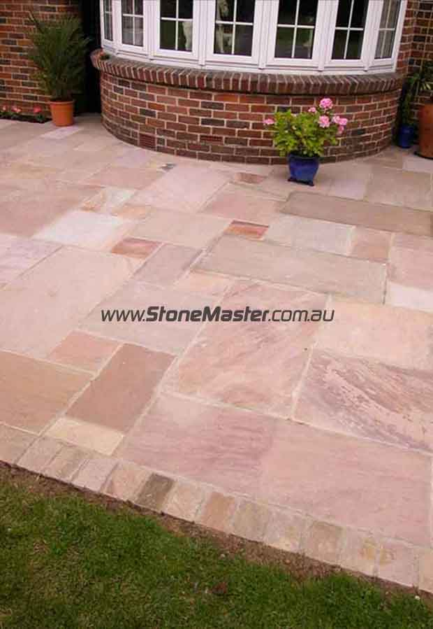 sandstone patio paving slab