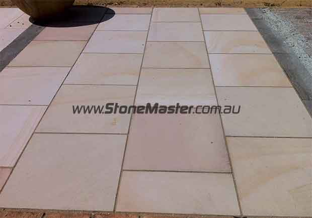 sandstone paving slabs sandblasted