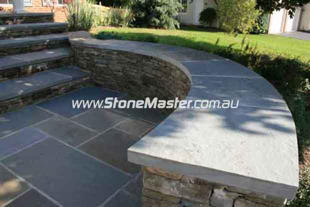 bluestone outdoor tiles and bench contemporary landscape white grout
