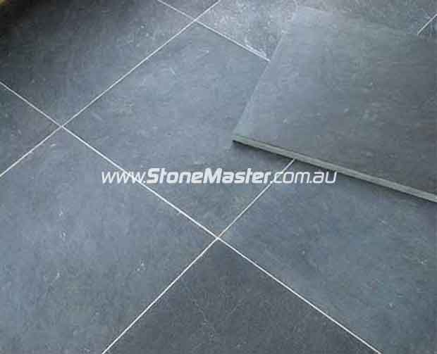 bluestone stone floor tile sample white grout