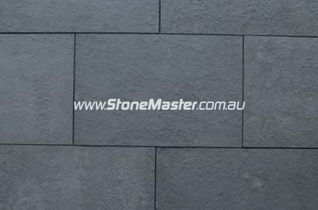 bluestone tile sample flamed black grout