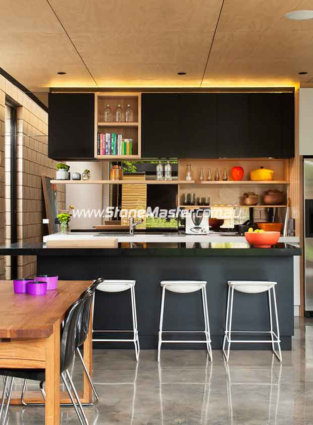 contemporary polished kitchen