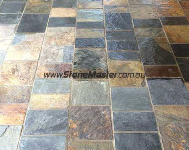 before and after_sealing slate tiles