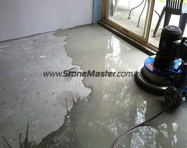 during sealing concrete floor
