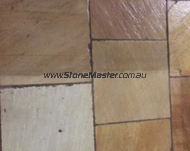 sandstone floor before and after deepshield color enhancing penetrating sealer
