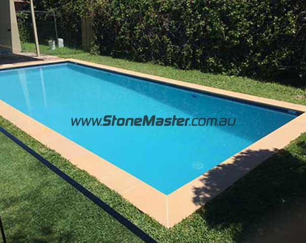sandstone pool after cleaning and sealing