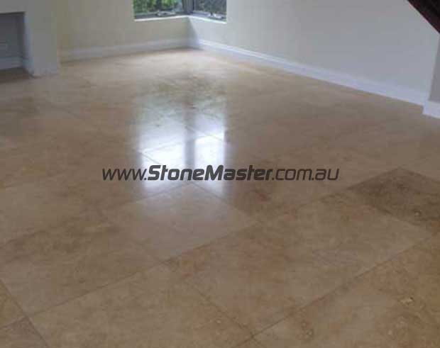 sealed travertine tiles with deepshield transparent penetrating sealer