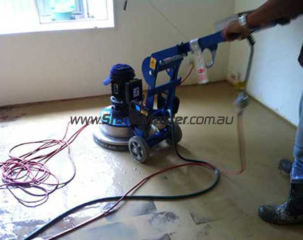 sealing work for a concrete floor