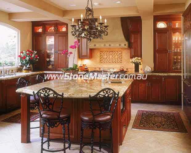 brown granite kitchen table