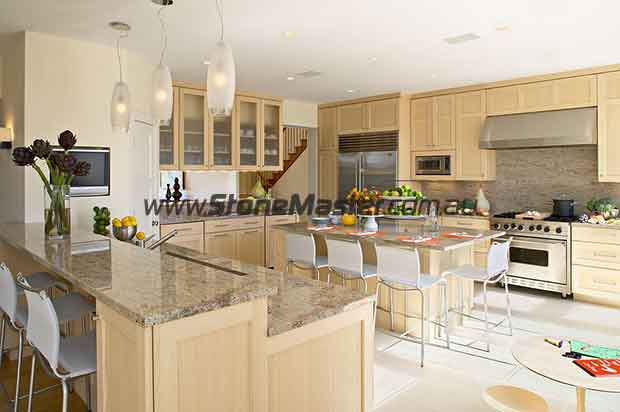 granite beach style kitchen