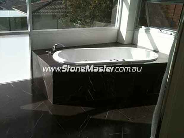 granite tile bathroom bath tub