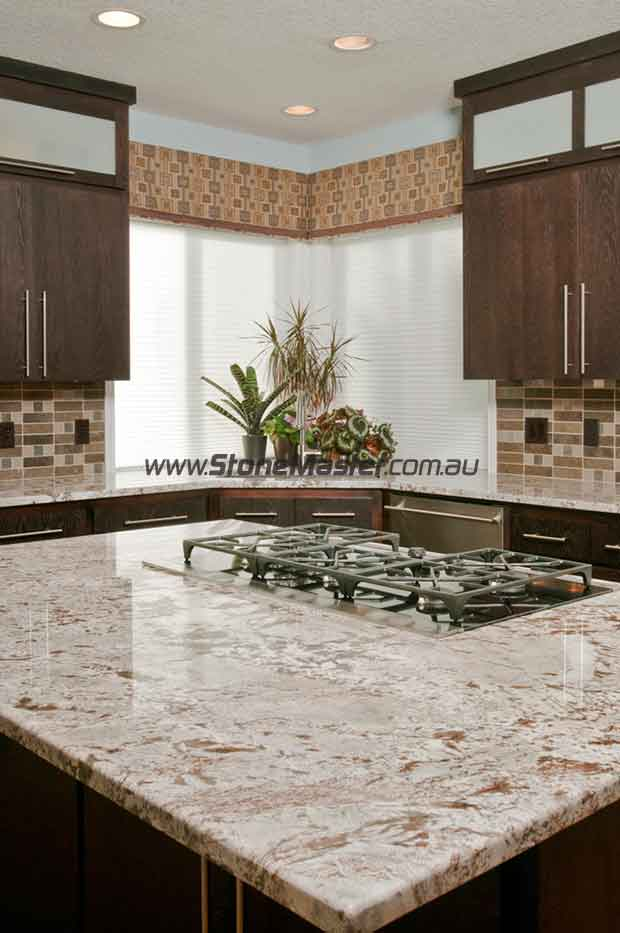 kitchen white granite table