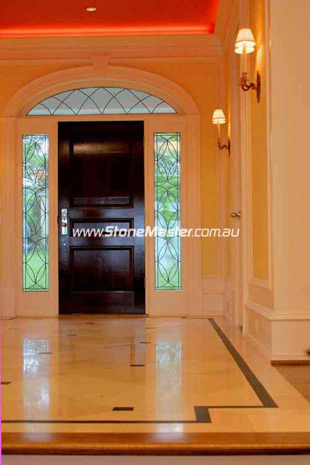 marble tile classic entry way foyer empty floor