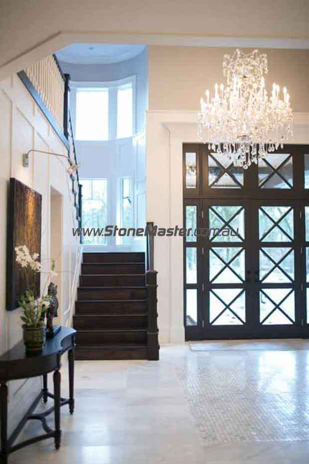 marble tile floors display contemporary entry stairs door