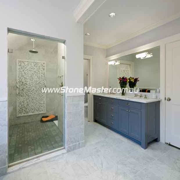 marble tiles floor wall bardiglio marble tumbled light with shower