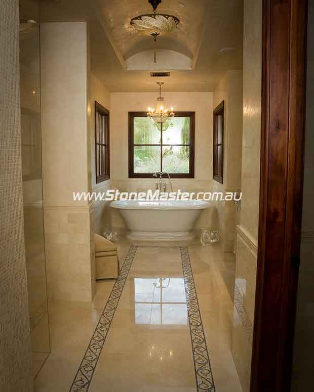 polished marble traditional bathroom