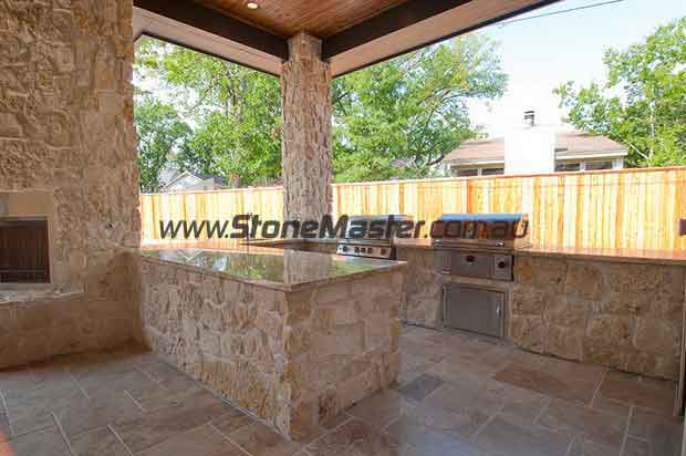 traditional polished patio